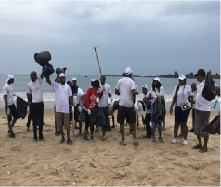 Partnership with GIVANAS Foundation for a beach clean-up Exercise